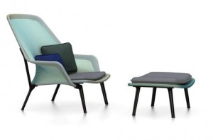 Fotel Vitra Slow chair & Ottoman